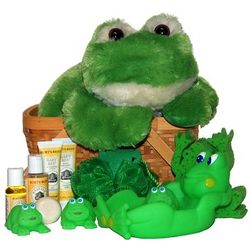 Bath Time with Froggy Baby Spa Gift Basket