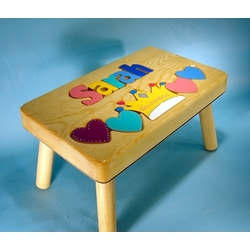 Personalized Puzzle Princess Step Stool