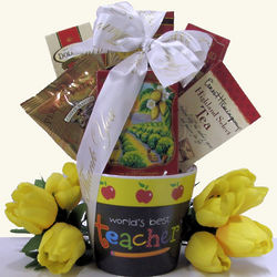 World's Best Teacher Appreciation Gift Basket