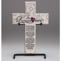 Reunion Heart Tabletop Cross