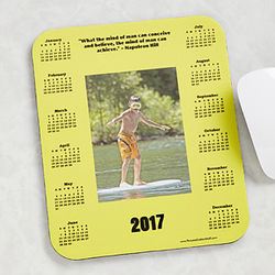Personalized Quote and Photo Calendar Mouse Pad
