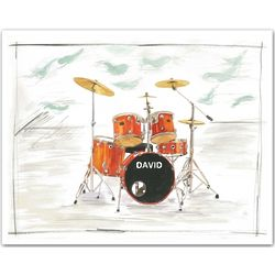 Personalized David's Drums Art Print