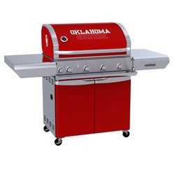 Oklahoma Sooners Team Grill Patio Series MVP Gas Grill