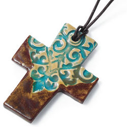Ceramic Cross Necklace