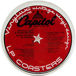 Vintage Vinyl Record Label Coasters
