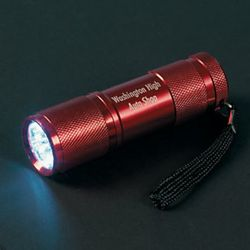 Personalized Red Aluminum LED Flashlight