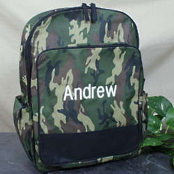 Embroidered Camo Backpack