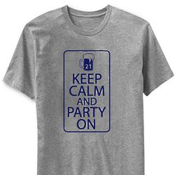 Personalized Age Keep Calm and Party On T-Shirt
