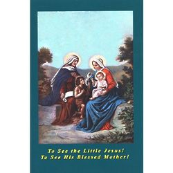To See the Little Jesus! To See His Blessed Mother! Book
