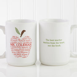 Apple Scroll Personalized Teacher Mug