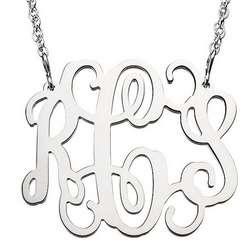 Personalized Filigree Monogram Necklace