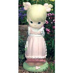 Precious Moments Tall Girl Garden Statue