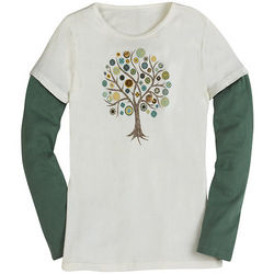 Button Tree Long-Sleeve T-Shirt