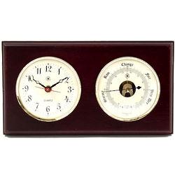 Mahogany Clock and Barometer