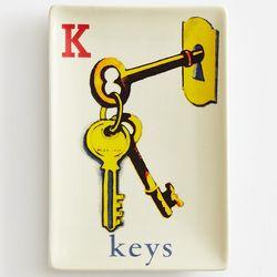 Children's K Is For Keys Flashcard Valet