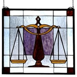 Lawyer or Judge Stained Glass Window