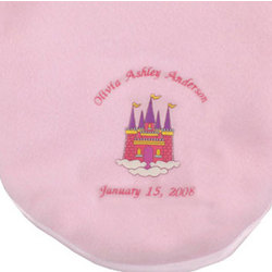Personalized Castle Baby Blanket