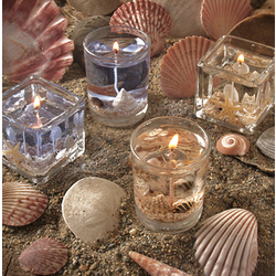 Beach Candle Wedding Favors