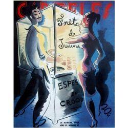 Frita de Juanito Street Seller n Girl Cuban Poster