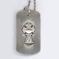 First Communion Dog Tag Necklace