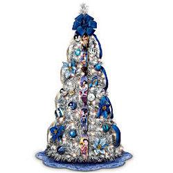 Elvis Blue Pull-Up Christmas Tree