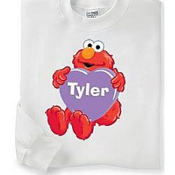 Personalized Elmo Heart Sweatshirt