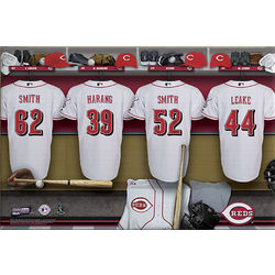 Cincinnati Reds 16x24 Personalized Locker Room Canvas