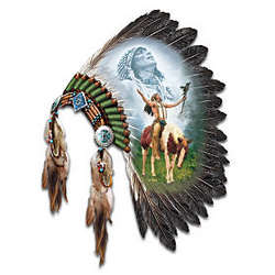 Native American Inspired Headdress Wall Decor
