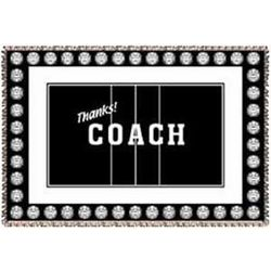 Personalized Thanks! Coach Volleyball Afghan