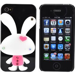 Cell Phone White Rabbit Hard Case with Rotating Mirror