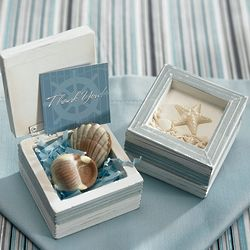 Wooden Beach Trinket Box
