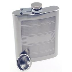 Personalized Horizontal Lines Flask