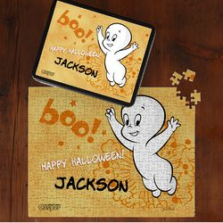 Personalized Casper the Friendly Ghost 252 Piece Jigsaw Puzzle