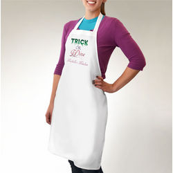Personalized Trick or Wine Apron