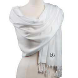 Monogrammed Ladies Pashmina Shawl