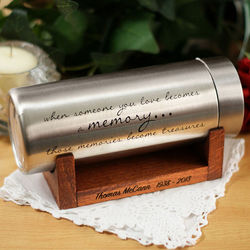 Engraved Memorial Time Capsule