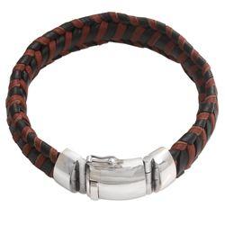 Men's Kintamani Leather Wristband Bracelet