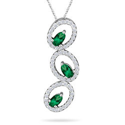 Diamond and Emerald Pendant