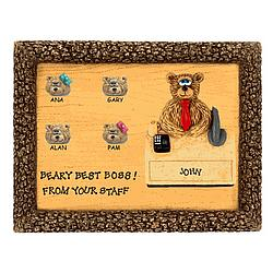 Personalized Manager Bear on Plaque