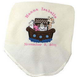 Personalized Noah's Ark Blanket