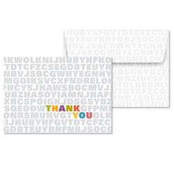 Alphabet Soup Thank You Note Cards