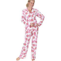 Fuchsia Daisy Boyfriend Pajamas