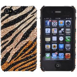 Swarovski Zebra Stripe iPhone 4 Hard Case