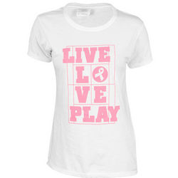 Women's Live Love Play White Tennis T-Shirt