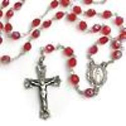 Bohemian July Birthstone Ruby Rosary