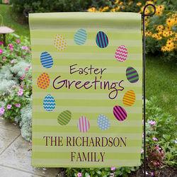 Personalized Easter Egg Garden Flag