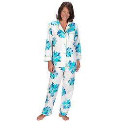 Bright Blue Floral Pajamas