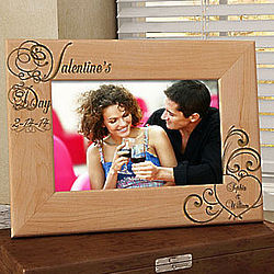 Personalized Valentine's Day Wooden Picture Frame