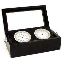 Clock and Thermometer in Black Box