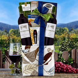 Vintners Path Red Wine Duet Gift Basket